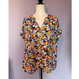 Anthropologie W5 floral print button down blouse